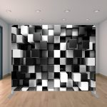 3D Black and White Cube