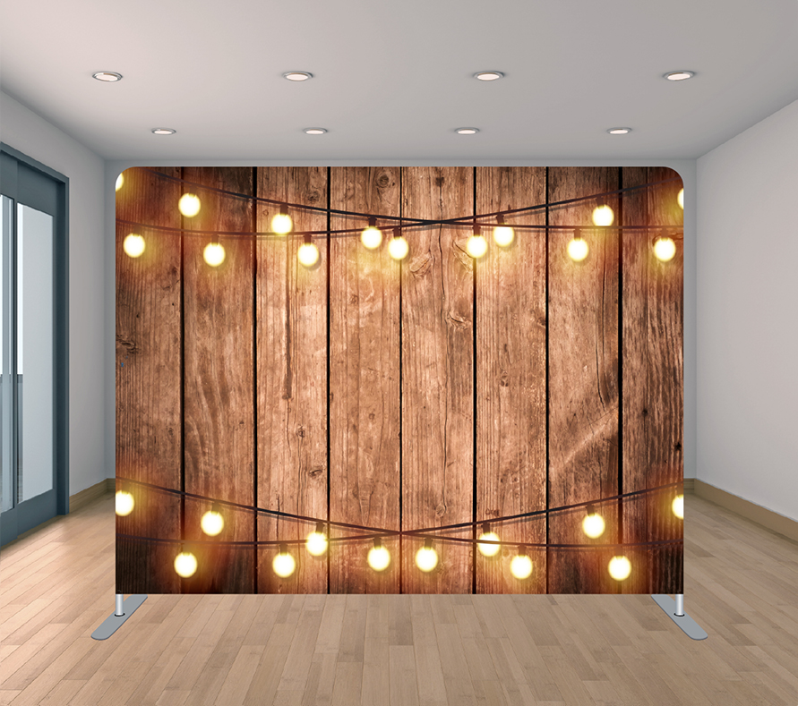 Wood With Two String Lights